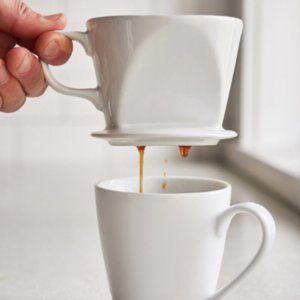 Stoneware Pour Over Ceramic Coffee Maker
